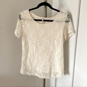 Tops - White Lacey Top